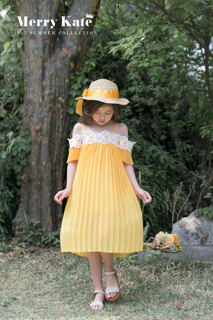 [Merry Kate] Bayou Pleated Dress - MUSTARD