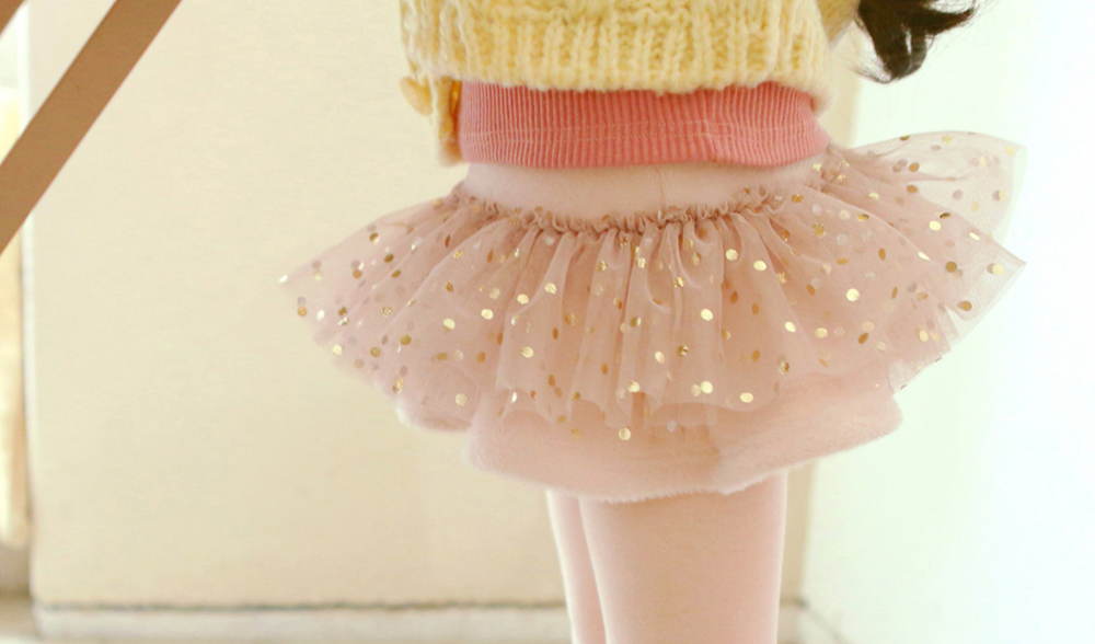 Daniella Gold Dot Tutu Napped Legging [2-3 YEARS]