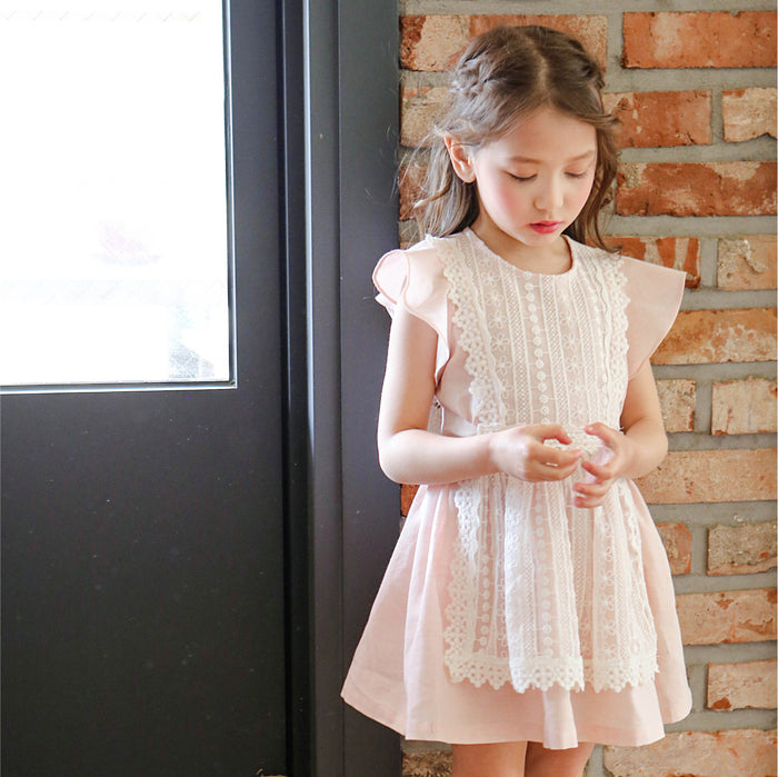 [FLO] Sinclair Lace Dress - PINK