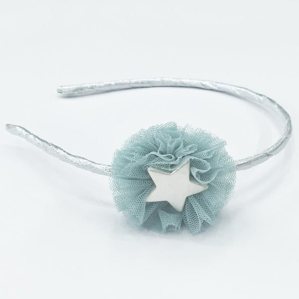 Starstruck Lace Headband with metallic band for little girls
