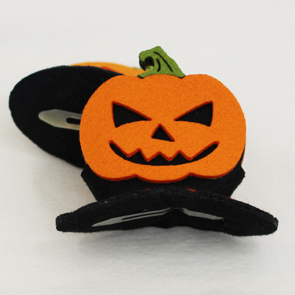 Trick or treat Pumpkin Hair Clip for little girls