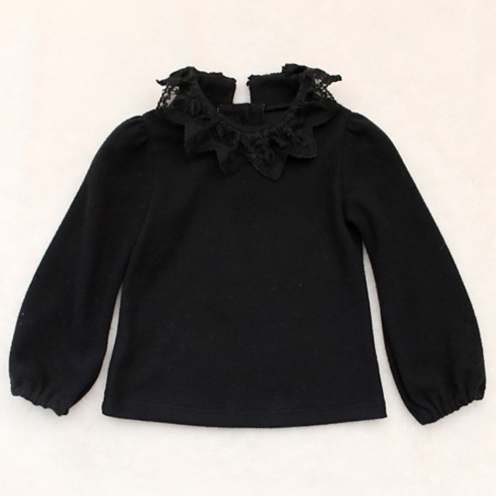 Teenie Lace Collar Top for little girls