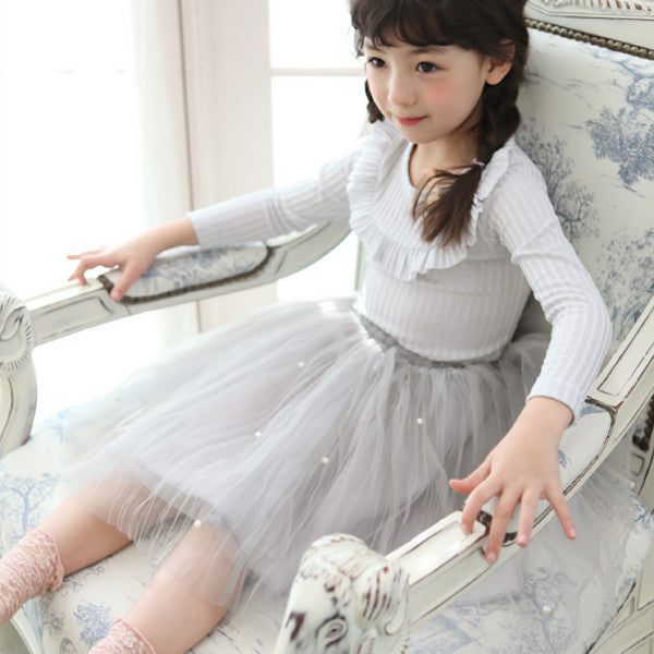 Tracy Tulle Skirt, little girls tulle skirt in grey