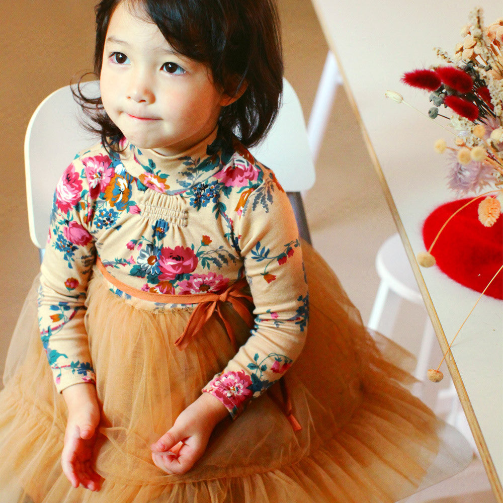 Valley Floral Tulle Dress for little girls