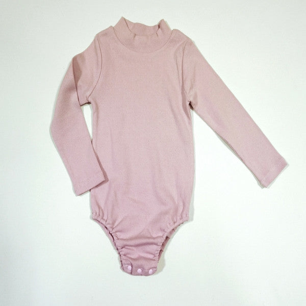 Wesley Body Suit, little girl long sleeve body suit in pink