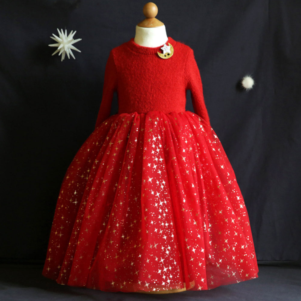 Willow Banquet Dress with starry tulle dress for little girls