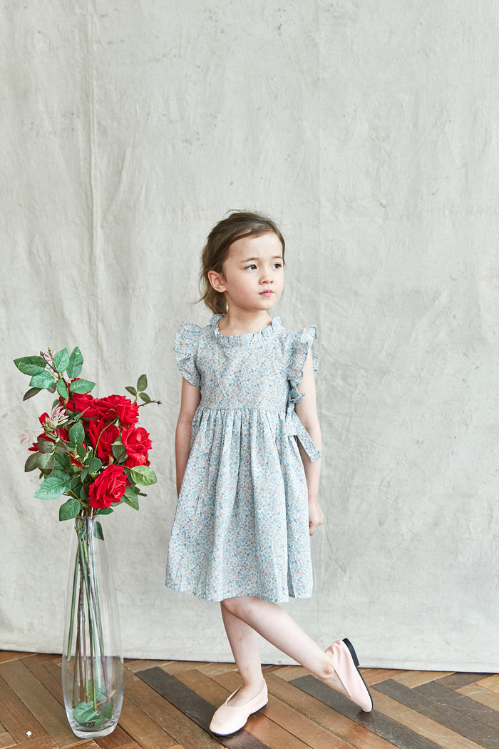[Mimi Boutique] Hadley Floral Dress - LIGHT BLUE