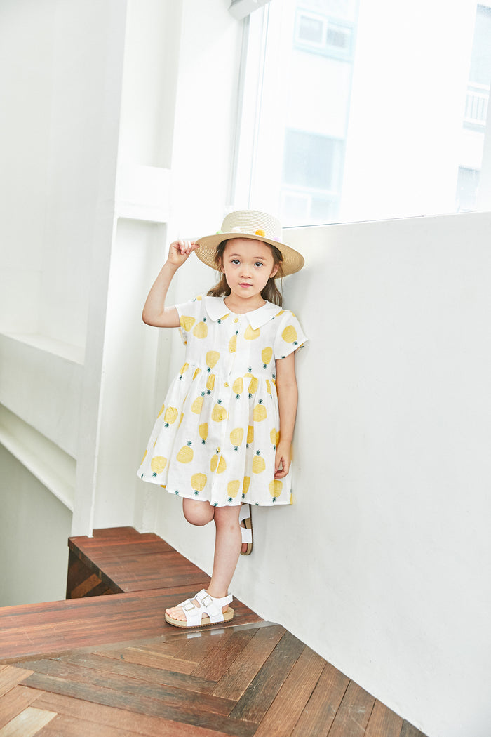 [Mimi Boutique] Shannon Pineapple Dress - YELLOW