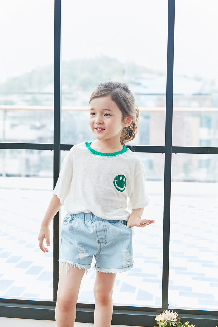[Mimi Boutique] Tibby Smile Top - GREEN