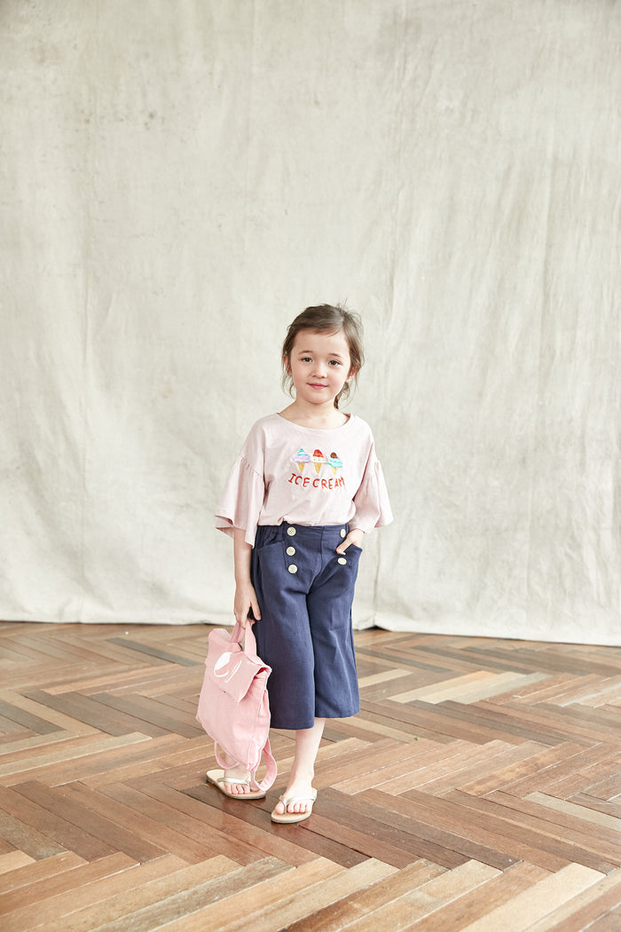 [Mimi Boutique] Darian Button Pants - NAVY