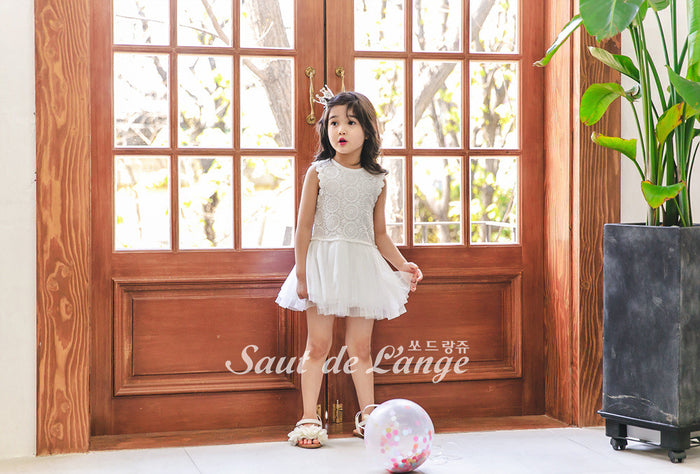 [Saut de L'ange] Zane Tulle Dress - WHITE
