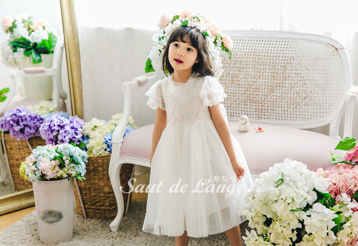 [Saut de L'ange] Jalen Royal Dress - WHITE