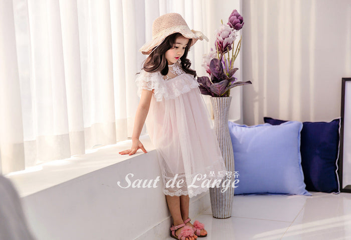 [Saut de L'ange] Ellis Lace Dress - PINK