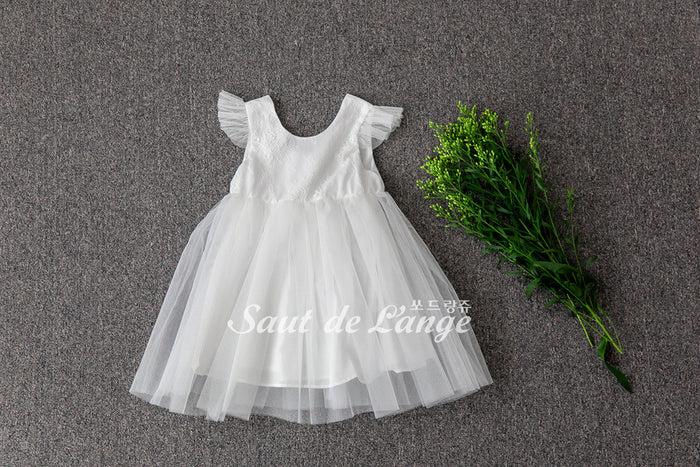 [Saut de L'ange] Spenser Tulle Dress - WHITE