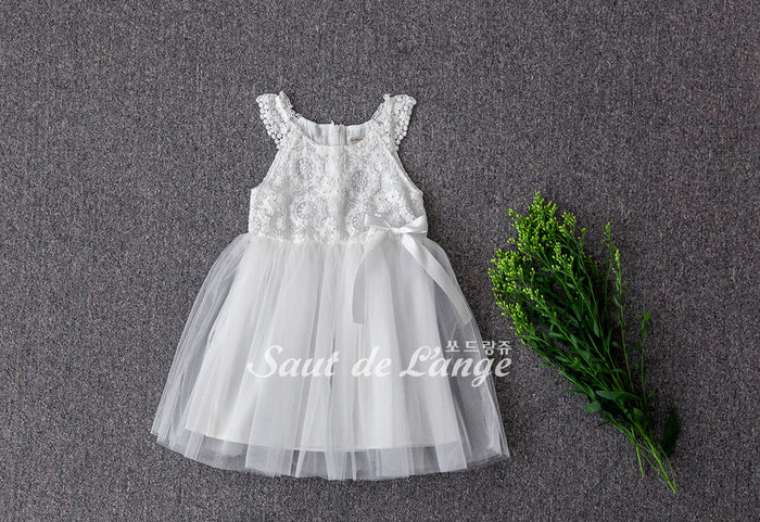 [Saut de L'ange] Madigan Tulle Dress - WHITE
