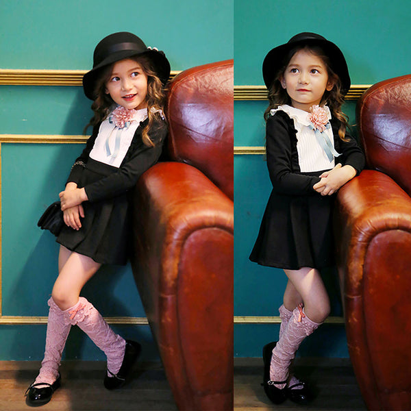girl's knee-length Sai lace socks