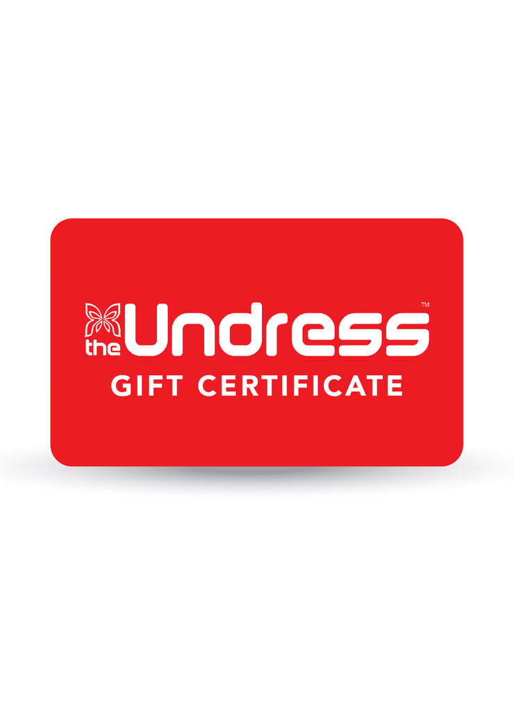 The Undress Gift Certificates