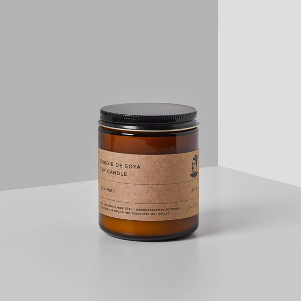 GROOM | SOY CANDLE - CONIFERE - Oak + Tonic