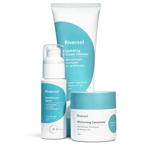 Riversol | Redness Control Trio [very dry skin] - Oak + Tonic