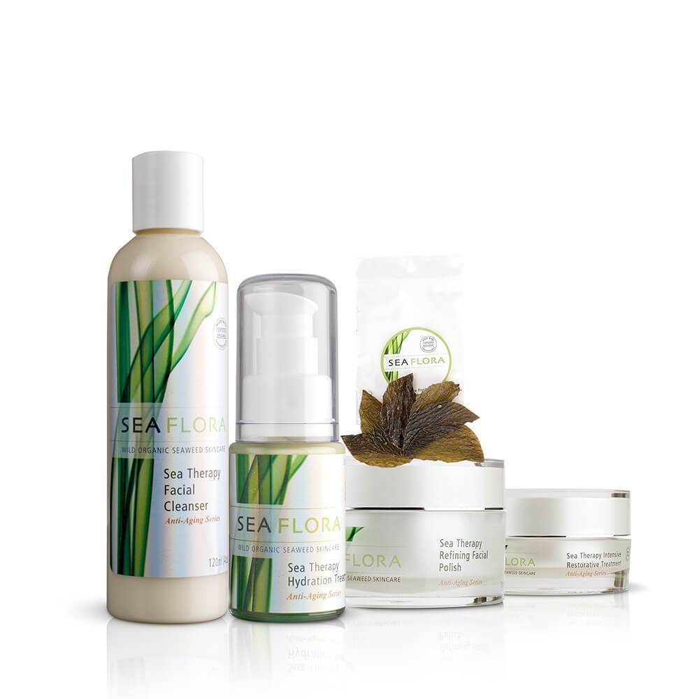 Seaflora | Sea Therapy Anti-Aging Skincare Set - Oak + Tonic