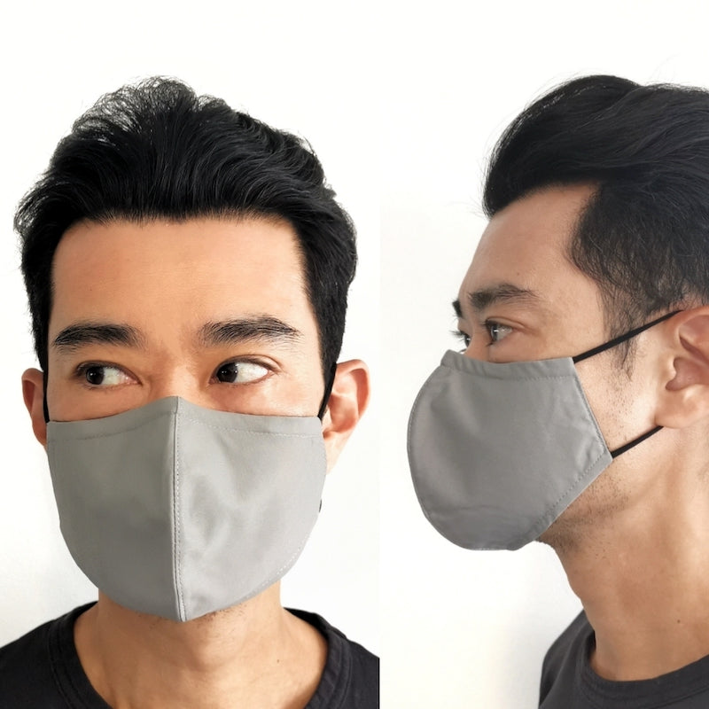 3D contoured mask in size S
