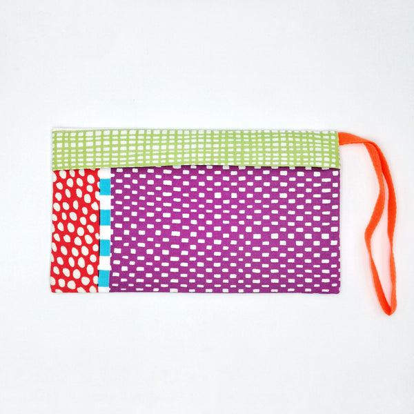 Colourful Patchwork Pouch for Masks