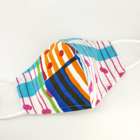 Colourful Stripes 3D Mask