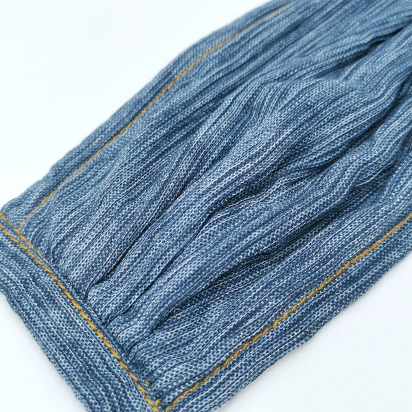 Cotton Crepe Denim Pleated v2 Mask