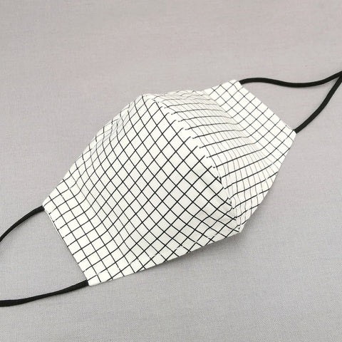 Graph Paper Black 3D Mask