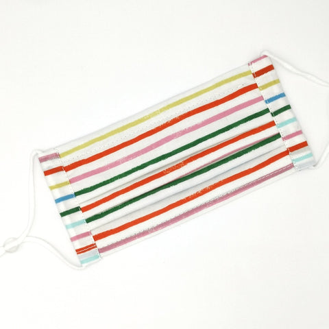 Happy Stripes Pleated v2 Mask