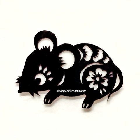 Year of the Rat Acrylic Brooch