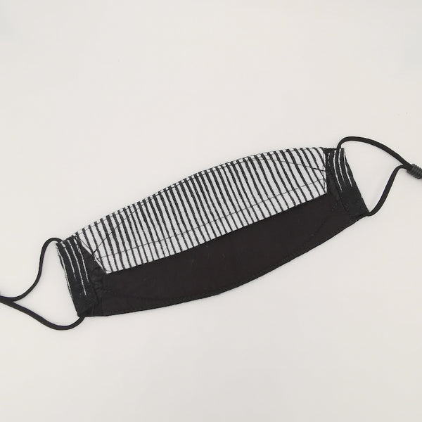 Vertical Lines Black Sampan Mask