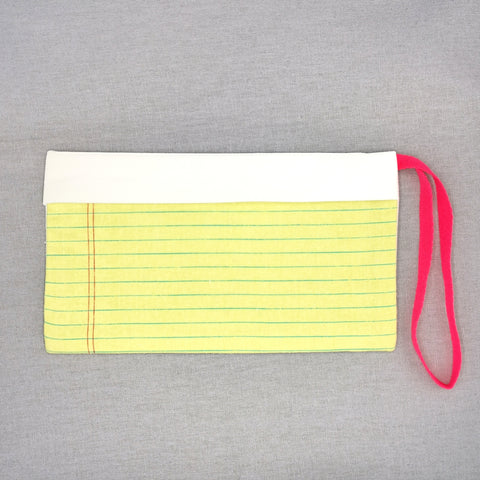 Yellow Notepad Pouch for Masks