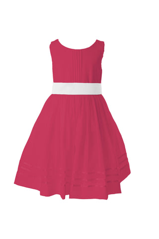 Bright pink tagged flower girl dresses matchimony short sleeve flower girl dress 4000 bright pink mightylinksfo
