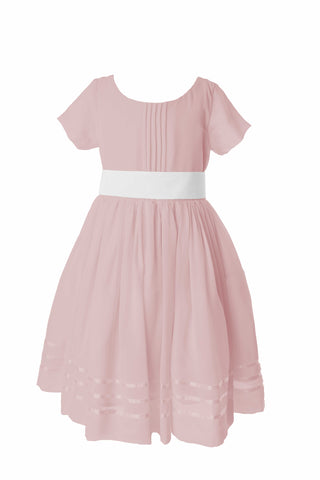 Dusky pink tagged flower girl dresses matchimony short sleeve flower girl dress 4000 dusky pink mightylinksfo