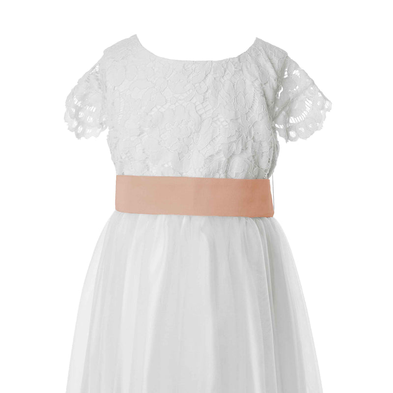 Rose Gold Tagged Flower Girl Dresses Matchimony