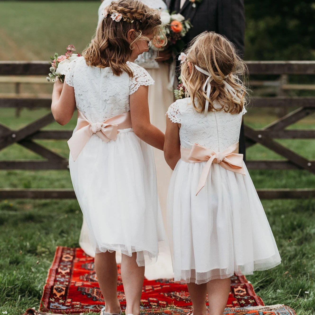 Beautiful Tailor Made White Flower Girl Dress with Colour Sash ...