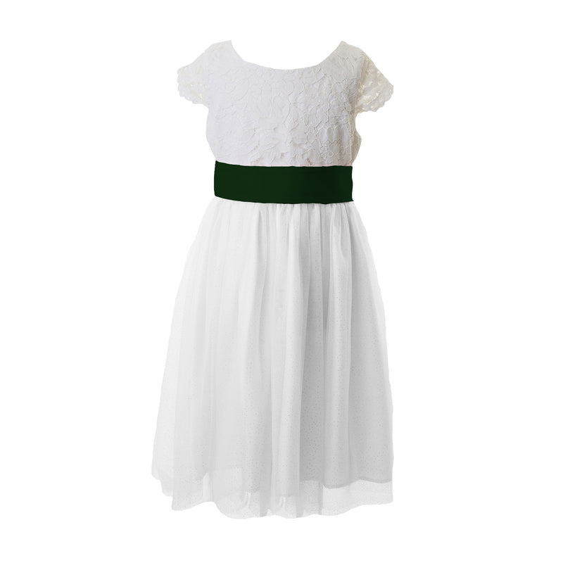 Forest Green Tagged Flower Girl Dresses Matchimony