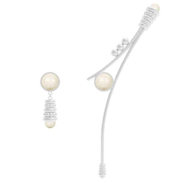 Swan Asymmetrical Earrings