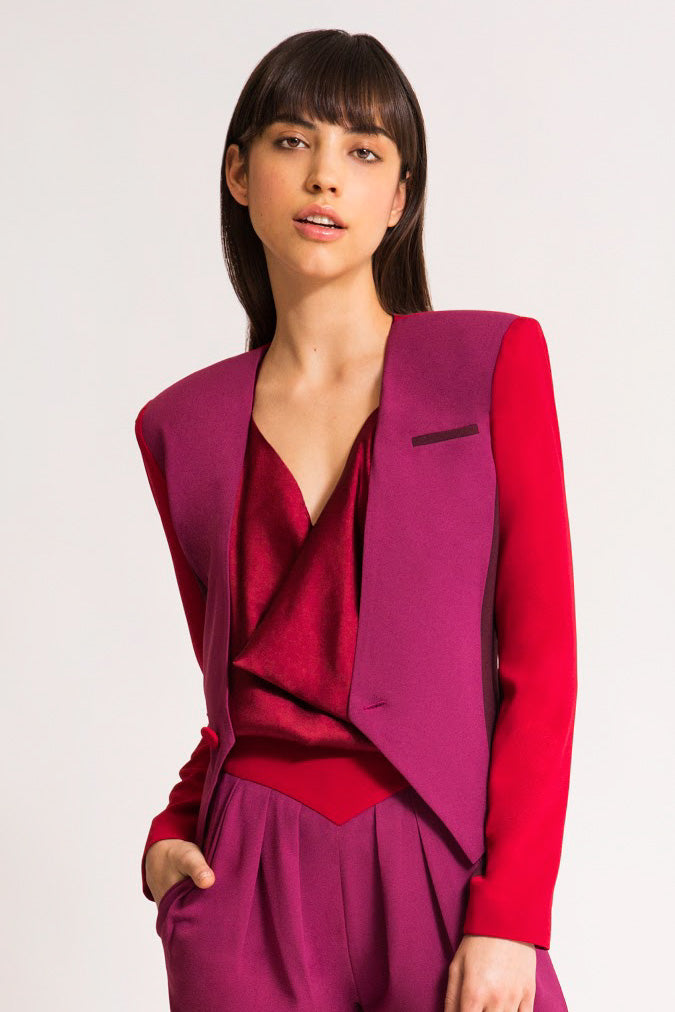 GRACE BLAZER FUCHSIA, CHERRY RED & BURGUNDY