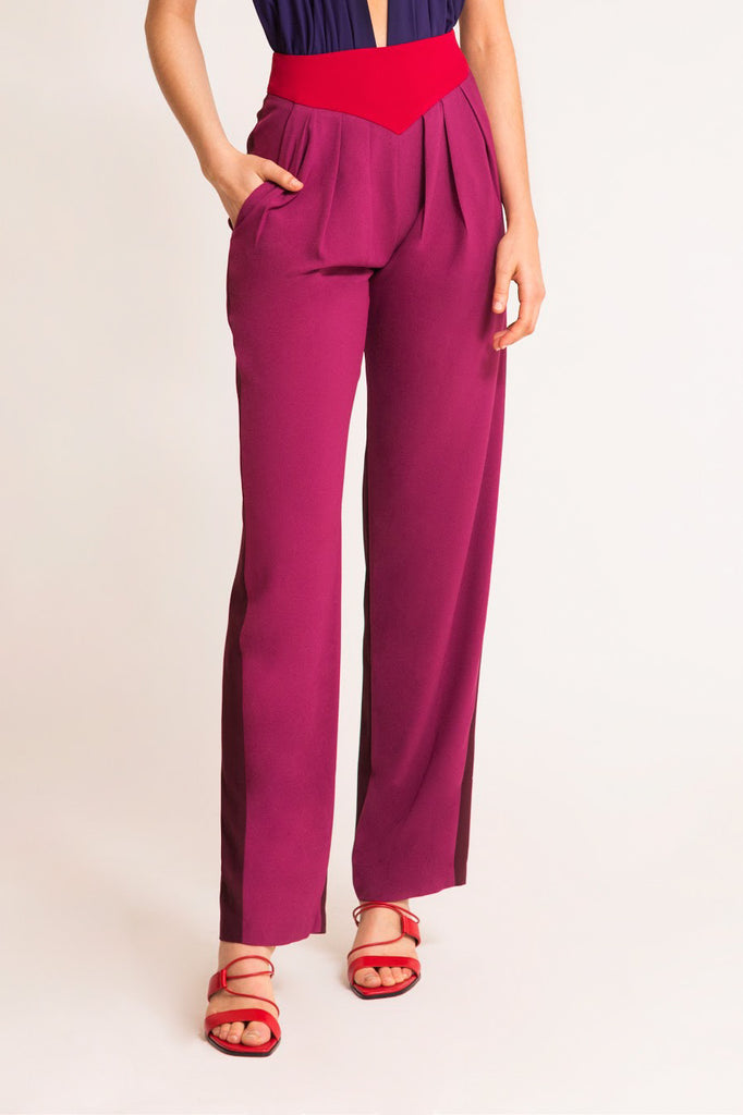 GRACE TROUSERS FUCHSIA, CHERRY RED & BURGUNDY
