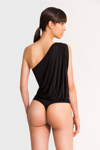 LEE ASYMMETRIC BODYSUIT BLACK