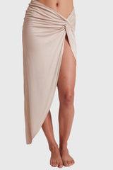 GRACE KNOT SKIRT BEIGE