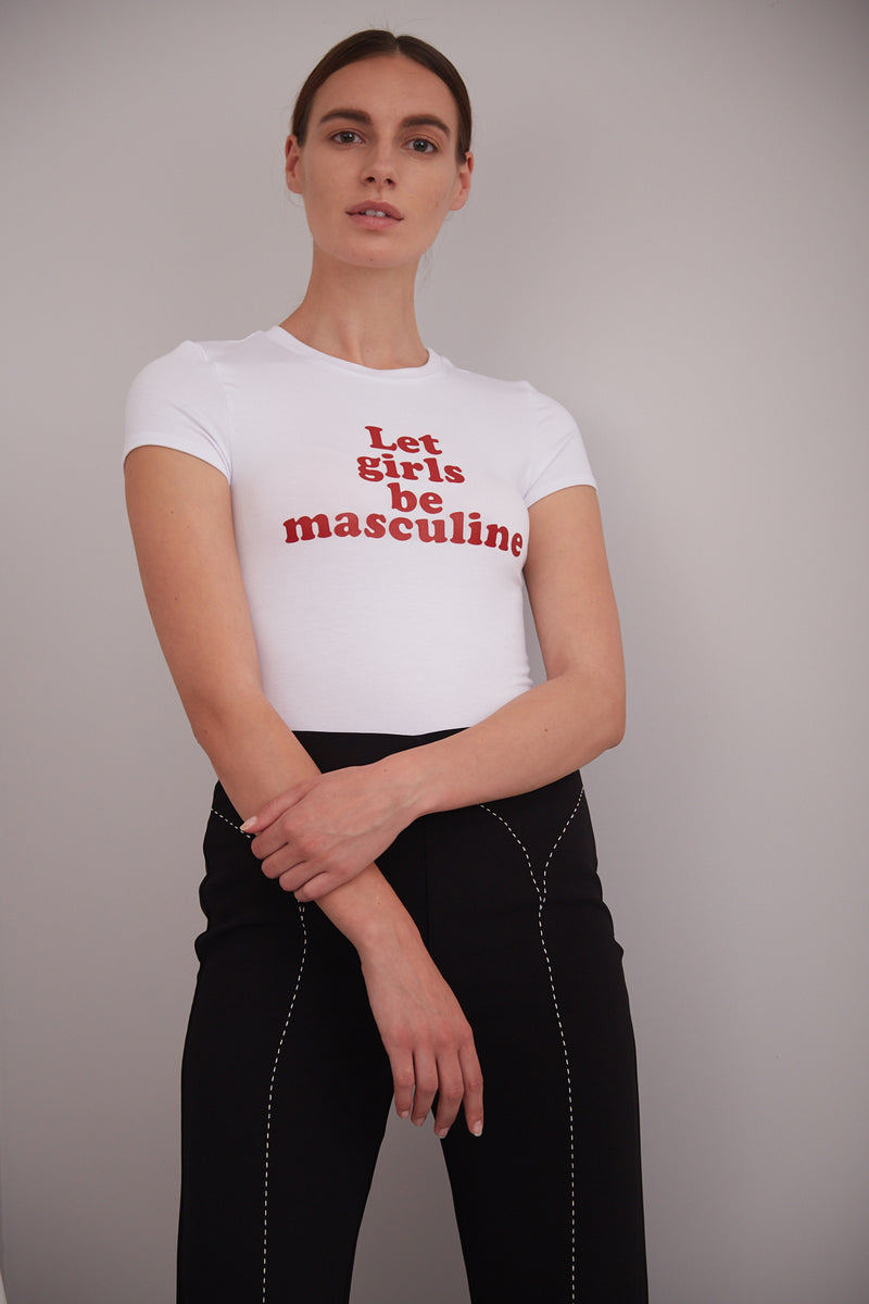 """LET GIRLS BE MASCULINE"" T-SHIRT"