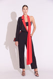 LENA JUMPSUIT BLACK & RED