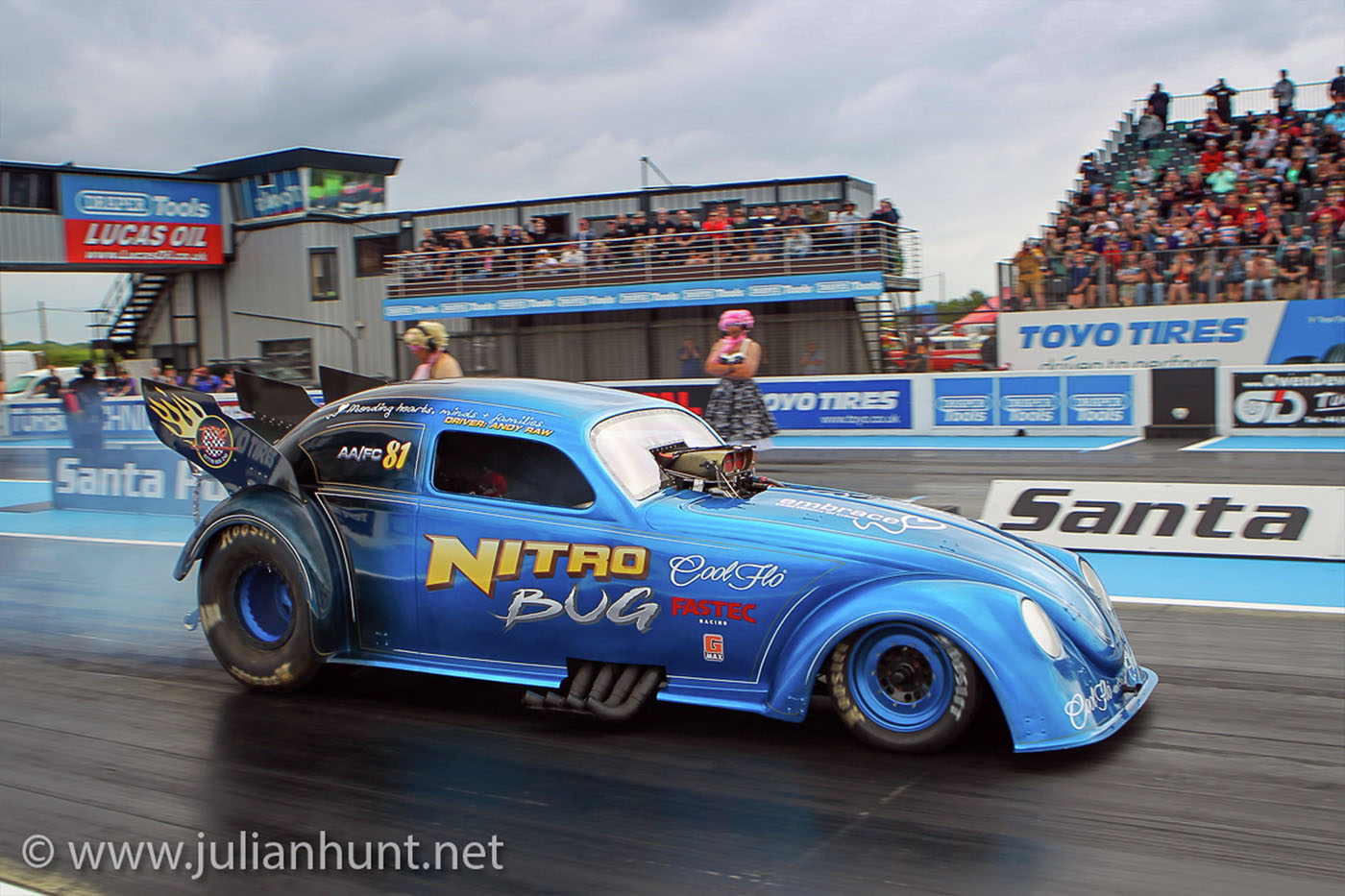 Cool Flo sponsored Nitro Bug VW funny car