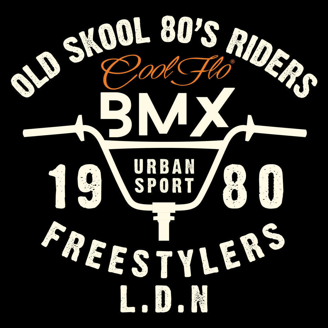 BMX Freestylers Black T-shirt - Cool Flo