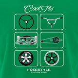 Freestyle Green T-shirt - Cool Flo