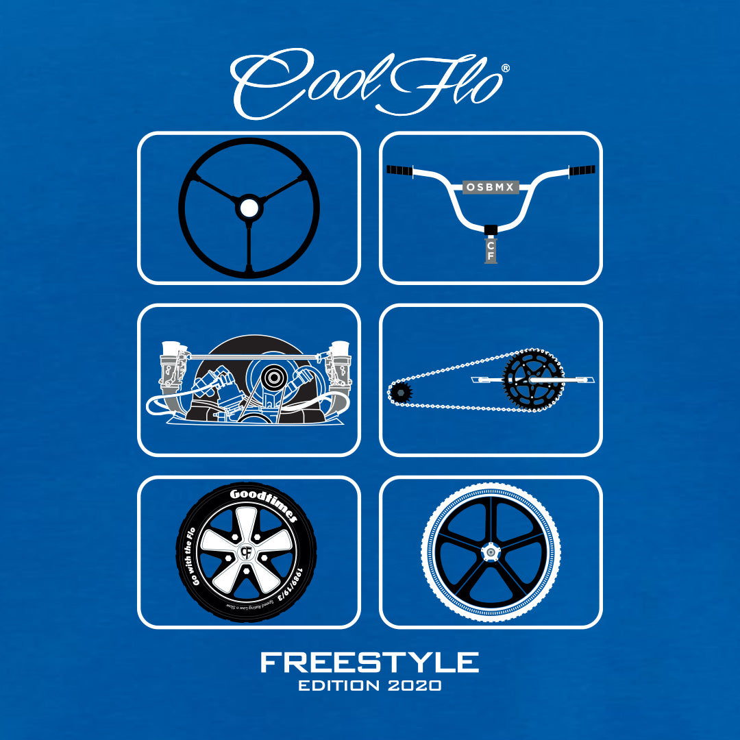 Freestyle Blue T-shirt - Cool Flo