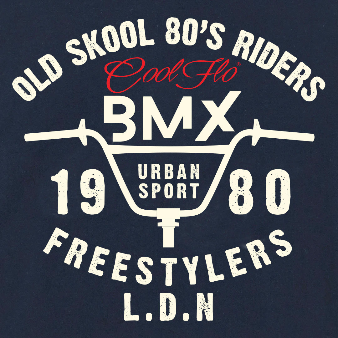 BMX Freestylers Navy Long-Sleeve T-shirt - Cool Flo